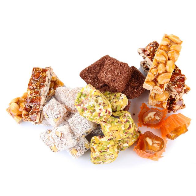 Восточные сладости, ореховые пасты, батончики, джем