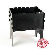 Залізний кований мангал для дачі на 6 шампурів, Мангал садовий металевий зі сталі 3 мм від виробника