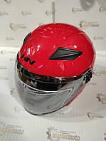Шлем мотоциклетный открытый красный глянец S(55-56), HNJ 01