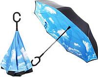 "Зонт навпаки Up-brella автомат, зворотний парасольку, колір ""Небо"", фото 5"