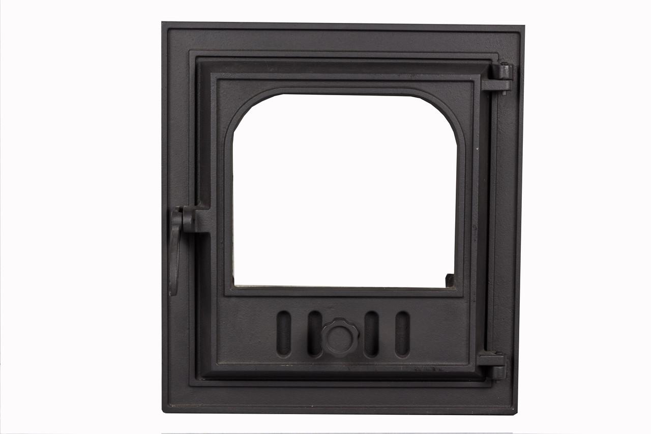 Пічні чавунні дверцята зі склом - VVK 36 х 40 см/ 32х36см