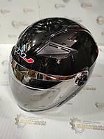 Шлем мотоциклетный открытый черный глянец S(55-56), HNJ 01