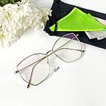 Имиджевые очки- бабочки в металлической оправе, фото 4