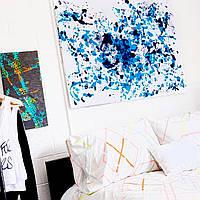 Набір для малювання картини тілом Love is Art абстракція фарбами. Оригінальний подарунок парі, хлопцю, дівчині Чорний / Синій