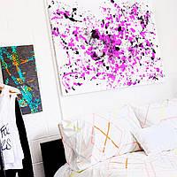 Набір для малювання картини тілом Love is Art абстракція фарбами. Оригінальний подарунок парі, хлопцю, дівчині Чорний / Фіолетовий