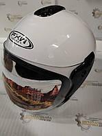 Шлем мотоциклетный открытый белый S(55-56), HF-217, FXW