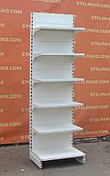 Торгові односторонні (пристінні) стелажі «Модерн» 230х70 див., кремовий, Б/в, фото 1
