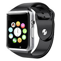 Умные часы Smart Watch A1 часы телефон, камера, шагомер + подарок наушники беспроводные i12, фото 1