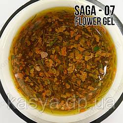 Гель SAGA Flower Fairy Gel №7 с сухоцветами, 5 мл