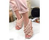 Босоножки на высоком каблуке плетеные, фото 2