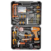 Большой набор слесарного инструмента Профессиональные инструменты для дома Набор слесаря с шуруповертом