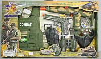 Набор полиции (жилет, маска, пистолет, бинокль, автомат трещотка) 33480 HN