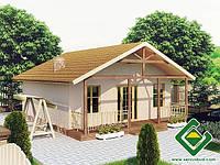 Готовый дом из сип панелей Дачный дом 2