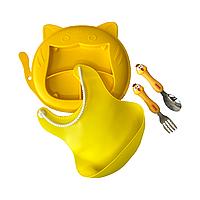 """Набор для кормления """"Кот"""" желтый"""