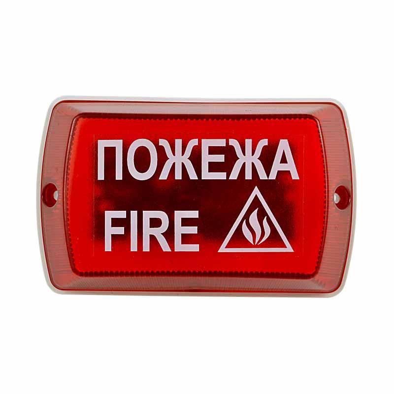 """Оповіщувач пожежний мовний """"Плай"""", з світловим індикатором 1,4-12/24 В-А (ОР-05С-12/24-А)"""