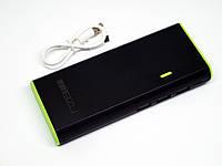 Внешний аккумулятор LED фонарик Power Bank Meizu 30000 mAh на 3 USB портативная зарядка батарея с фонариком
