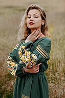 Льняное платье-вышиванка, арт. 4532