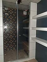 Распашные двери для душа из стекла закаленного 8 мм 90 * 195