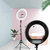 """Кольцевая светодиодная Led Лампа 46 см с зажимом для телефона пультом и штативом 2м 18"""" cxb-460"""