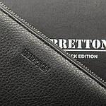 Кошелек-барсетка мужской кожаный большой BRETTON черный (05-103), фото 4