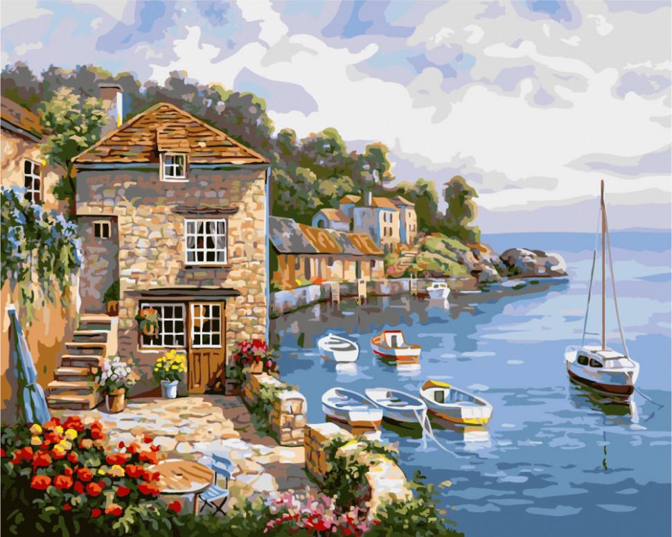 "Картина по номерам. Brushme "" Лодки в море "" G296, 40х50 см"