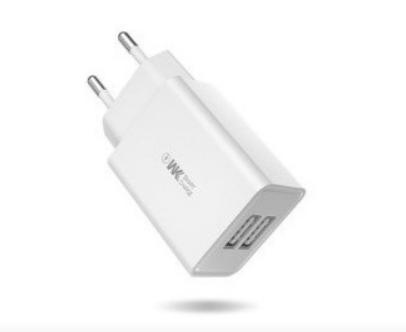 Сетевое зарядное устройство WK MAXSPEED WP-U56 2 USB + кабель MicroUSB Белое, фото 2