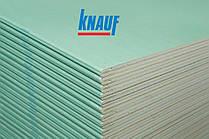 KNAUF/Гіпсокартон KNAUF/Гіпсокартон KNAUF Н2/1200/2000/12,5 мм 2,0(1п/52л) вологостійкий