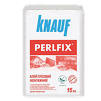 KNAUF/Сухі гіпсові суміші KNAUF/Клей для гіпсокартону Perlfix 15кг (80шт./піддон)