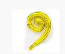 Фольгована кулька Спіраль золотий 43х30см Китай