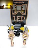 LED  автолампы диодны Chameleon, HB4, 9006, 5500Lm, 12-24V, Dual Color, Двухцветная желтая и белая, фото 1