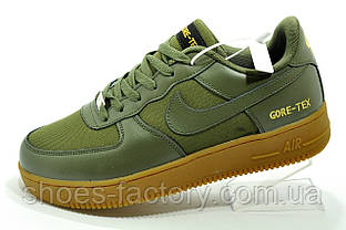 Кроссовки в стиле Nike Air Force 1 Gore-Tex мужские зелёные