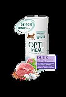 Optimeal (Оптимил) сухой корм для взрослых кошек c уткой ( выведения шерсти) 0.650 кг +0,650 кг в Подарок!