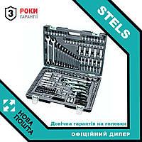 Профессиональный набор ручного инструмента Stels 216 шт 14115 усиленный кейс набор ключей для авто (для дома)