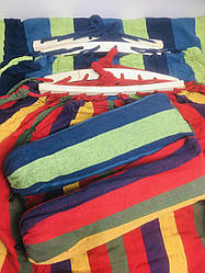 Тканевый гамак Amazonas 200х100 см, с планкой, разноцветный, хлопок, чехол