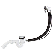 """Автоматический сифон для ванны, Styron STY-536-A-K, 6/4"""", накладка хром"""