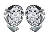Комплект LED фар 12 диодов! С 9 до 85 вольт! 20W. 6000K. 2000Lm. Светодиодная лэд фара L-33.