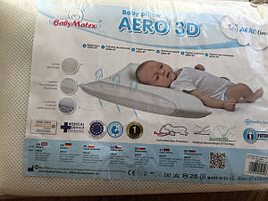 Подушка для младенцев Baby matex, ортопедическая 27*36 см aero 3D