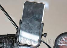 Тримач телефону (gps-навігатора) на кермо мотоцикла c портом usb підзарядки Motowolf