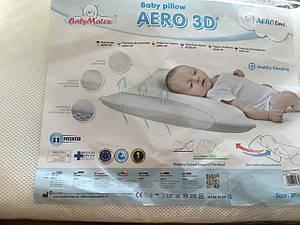 Подушка для младенцев Baby matex, ортопедическая 37*57 см aero 3D