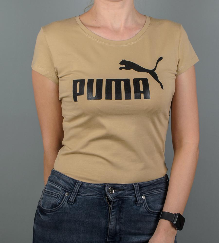 Футболка жіноча спортивна PUMA (2015ж), Пісочний