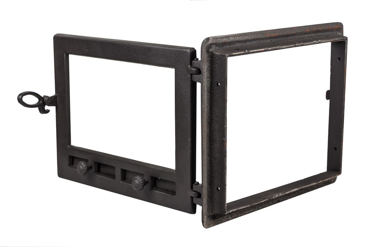 Печные дверцы чугунные с регуляторами поддува - VVK 48 х 36 см/ 42х32см