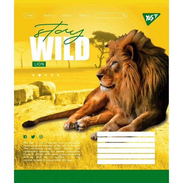 Зошит 96арк. клітка кольорова YES шкільна Stay wild (5/1) 765058