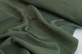 Муслин жатка Бутылочный темно-зелёный 135 см