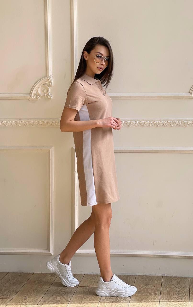 Платье футболка с лампасами DR1408