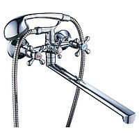 Смеситель для ванны Tau VD-5C261C (350 мм, дивертор встроенный шаровый). Кран