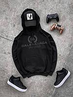 Мужская кофта-худи Balenciaga черного цвета
