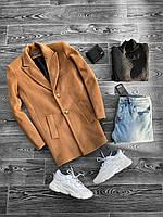 Мужское пальто коричневого цвета