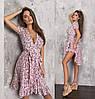 Летнее женское платье на запах с воланами ТК/-61242