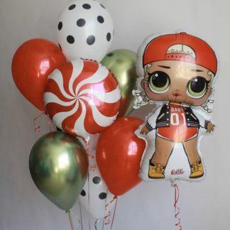 Набор шаров Куклы Лол гелий №2