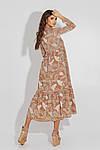 Женское платье, евро - софт, р-р 42; 44; 46; 48 (мокко), фото 3
